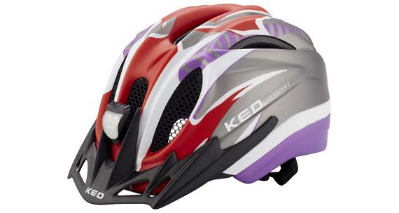 KED Meggy Reflex helm Kinderen grijs/violet
